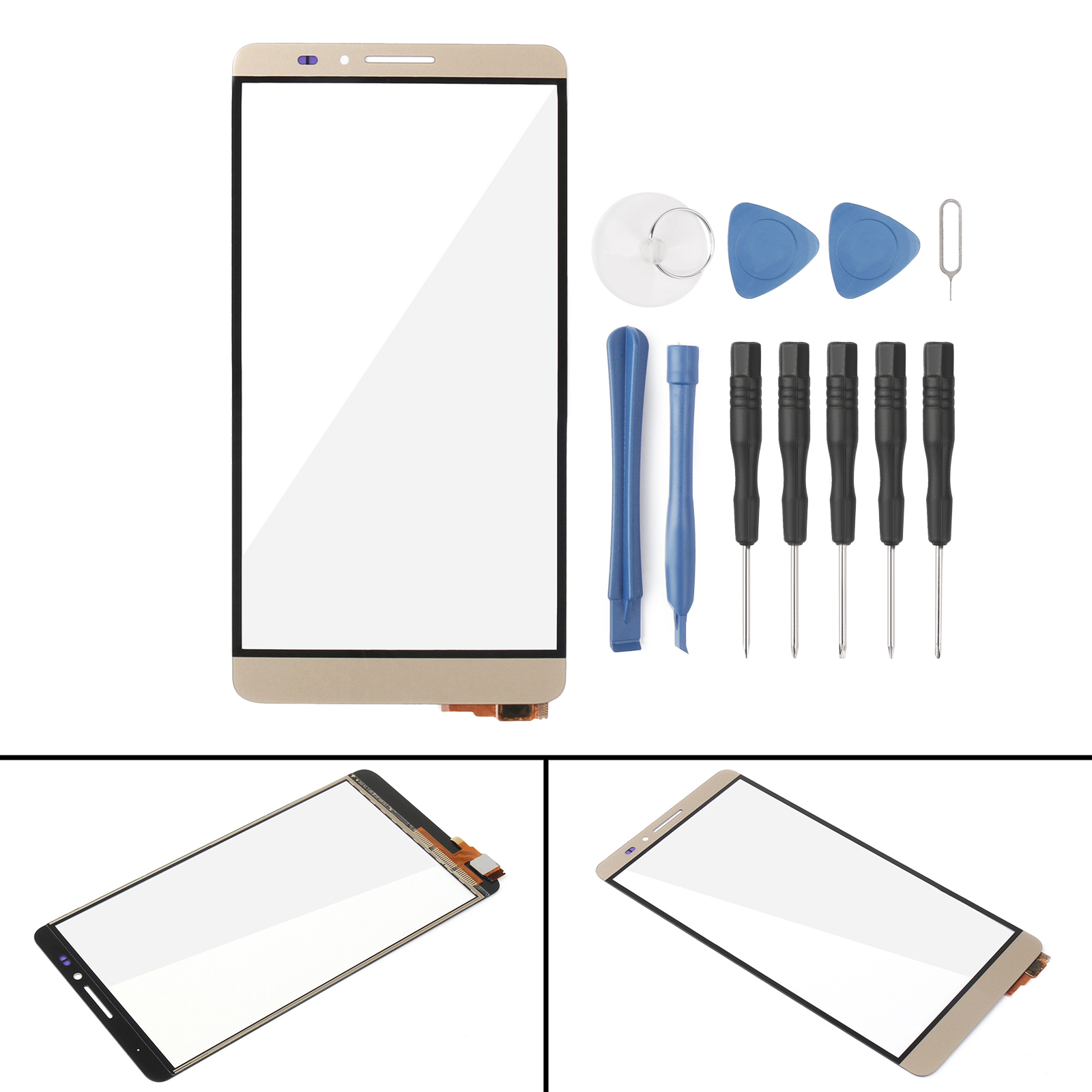 Areyourshop LCD Display Touch Screen Digitizer Replacement Assembly For Huawei Mate 7 Black
