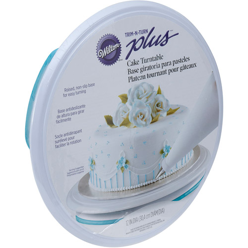 "Wilton Trim 'n Turn 12"" Plus Cake Decorating Turntable, Round 307-303"