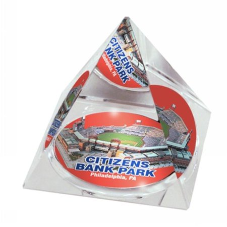 Paragon Innovations Co Citizenspyr29 Crystal Pyramid With Citizens Bank Park Image