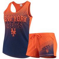 Women's Concepts Sport Orange New York Mets Shutout Tank Top & Shorts Set