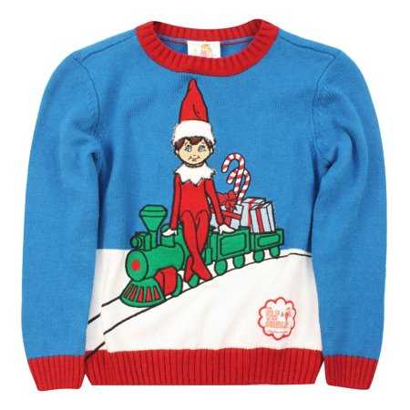 Girl And Boy Elf On The Shelf (Kid's The Elf On The Shelf Pullover)