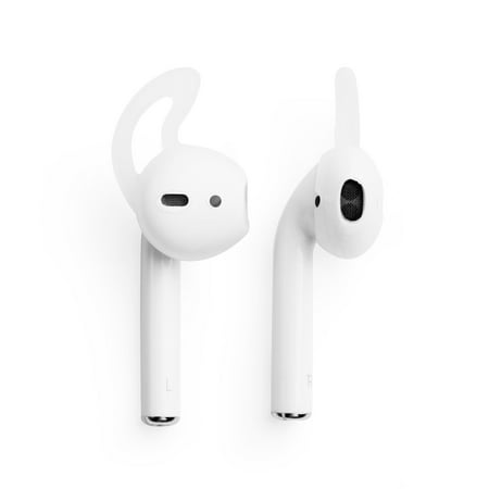 AirPods 2 Hooks Airpod Skins by Insten 1 Pair Set Airpod Ear Hooks Earhooks Protective Wraps Soft Silicone Rubber Hooked Earphone Headphone Headset Skin Case Cover Clear