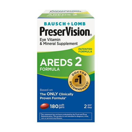 Bausch And Lomb PreserVision Eye Vitamin And Mineral Supplement Tabelets, 180 (Bausch And Lomb Preservision Areds 2 Formula)