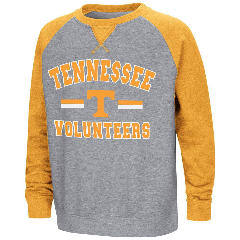 Youth Tennessee Volunteers Fleece Crewneck Sweatshirt - S