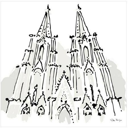 Notre Dame, Paris by Eazl Canvas Poster