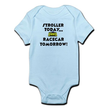 CafePress - Stroller Today, Racecar Tomorrow Infant Creeper - Baby Light Bodysuit 1 Pullman Sleeper Car