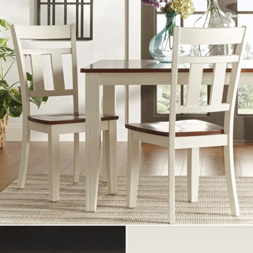 Tribecca Home  Eli Rustic Two-tone Mission Side Chairs (Set of 2)