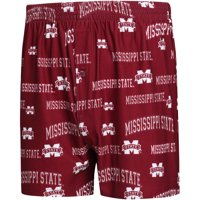 Mississippi State Bulldogs Concepts Sport Fairway Knit Boxers - Maroon