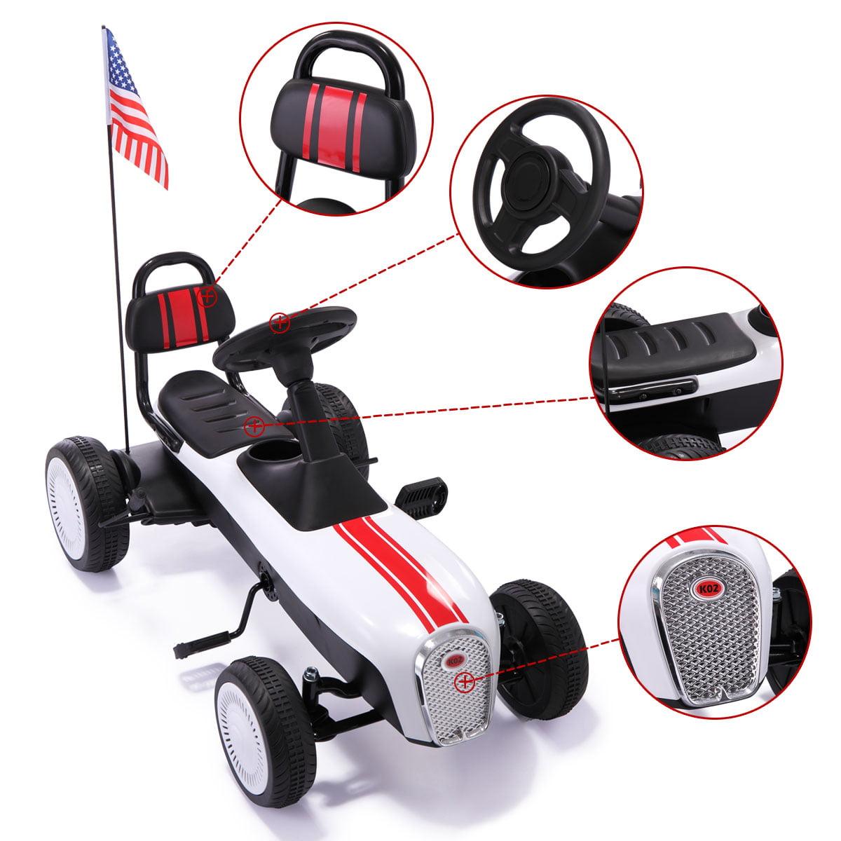 4 Wheels Kids Ride On Pedal Powered Bike Go Kart Racer Car ...