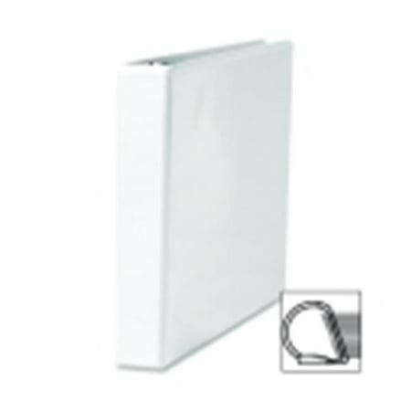 slant ring view binder 1 in capacity 11 in x8 5 in white