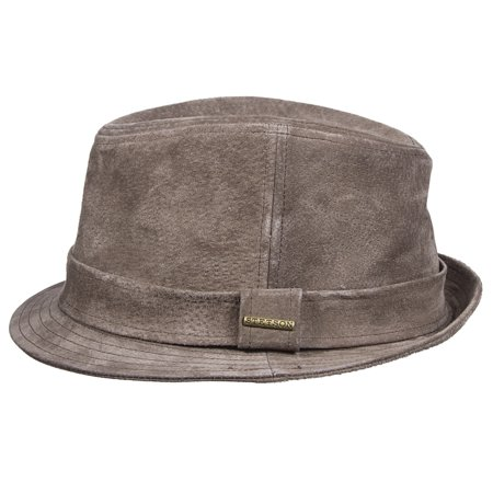 4ec69cd137f Stetson Mens Genuine Suede Fedora Hat