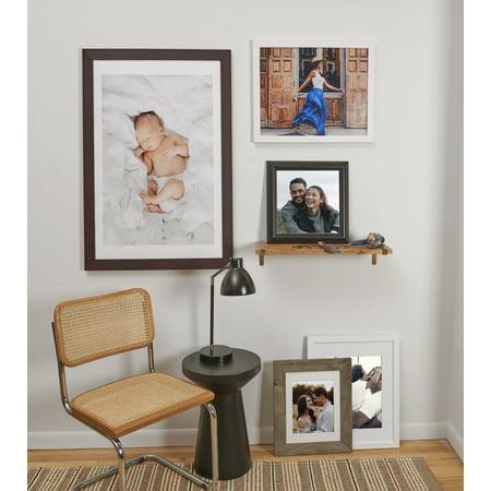 20x30 Photo Matte True Black Mat With 24x36 1 25 White Wood Frame