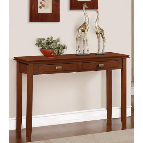 WyndenHall  Stratford Auburn Brown Console Sofa Table