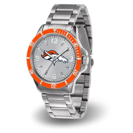 Denver Broncos Sparo Key Bracelet Quartz Watch - Silver - No Size Denver Broncos Silver Laser