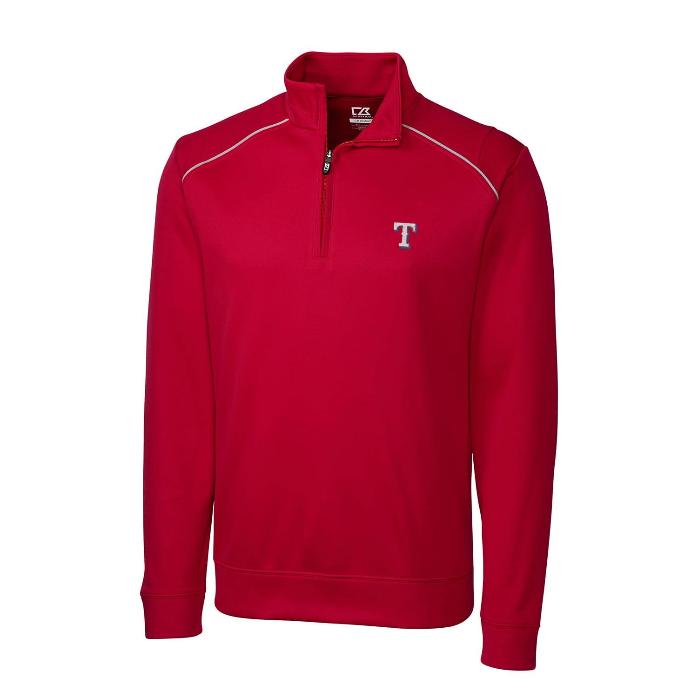 Texas Rangers Cutter & Buck Ridge WeatherTec Half-Zip Pullover Jacket - Red