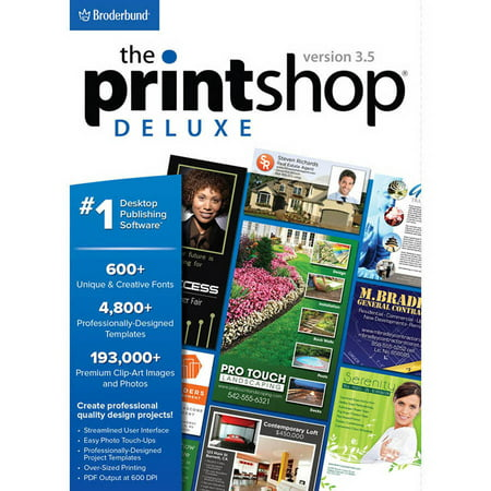 Encore Software LIC3643 Print Shop 3.5 Deluxe (Digital (Green Print Software)