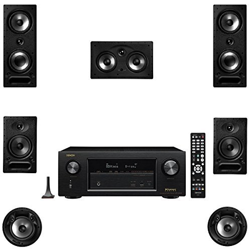 Polk Audio 265RT 7 Speaker Package with 65RT 80FXRT and Denon AVRX2300W AV Receiver by Polk Audio