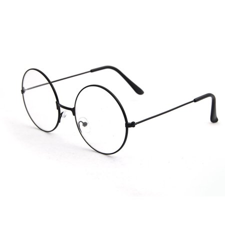 Unisex Round Glasses Frames Glasses with Clear Lens Optical Transparent (Round Glasses Transparent)