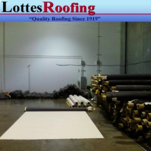 10/' x 24/' 60 MIL WHITE EPDM RUBBER ROOFING BY THE LOTTES COMPANIES