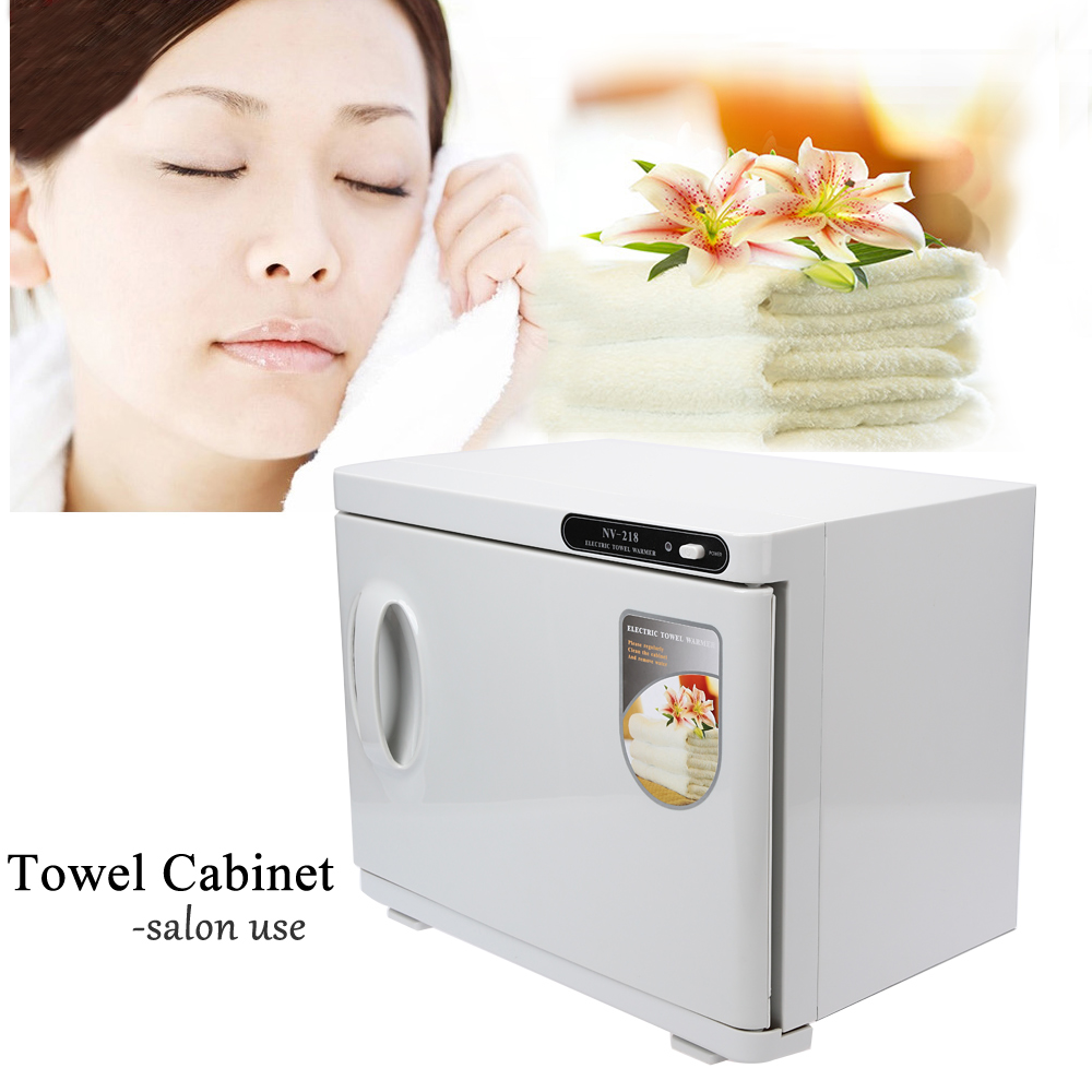 Anself 23L Hot Towel Sterilizer Cabinet UV Sterilizing Warmer Nail Beauty Salon