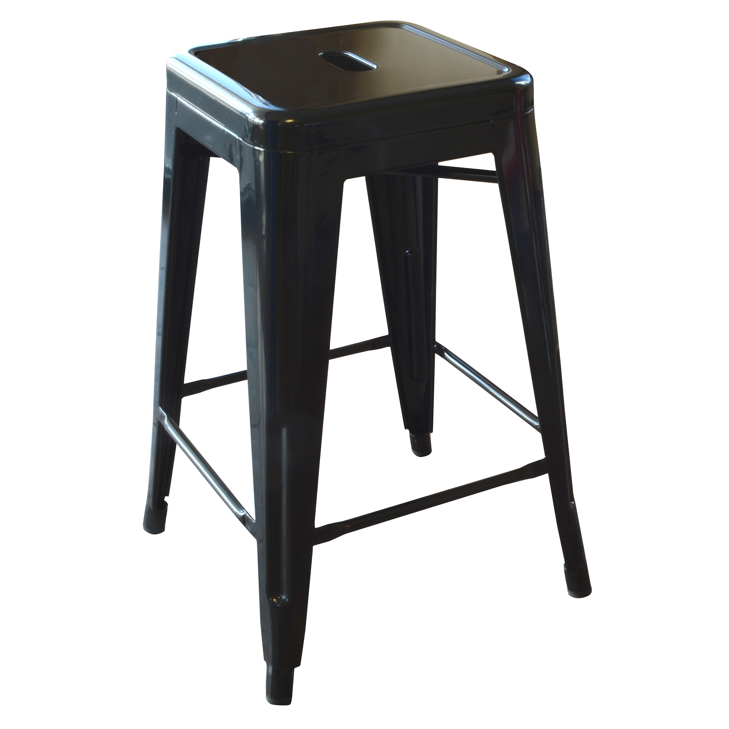 Amerihome Loft 24 Metal Bar Stool Black Walmart Com