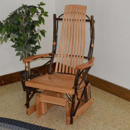 Enjoyable A L Furniture Hickory Glider Rocking Chair Lamtechconsult Wood Chair Design Ideas Lamtechconsultcom