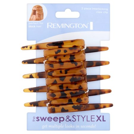 - (2 Pack) Remington The Sweep & Style XL Interlocking Claw Clip, 2 count