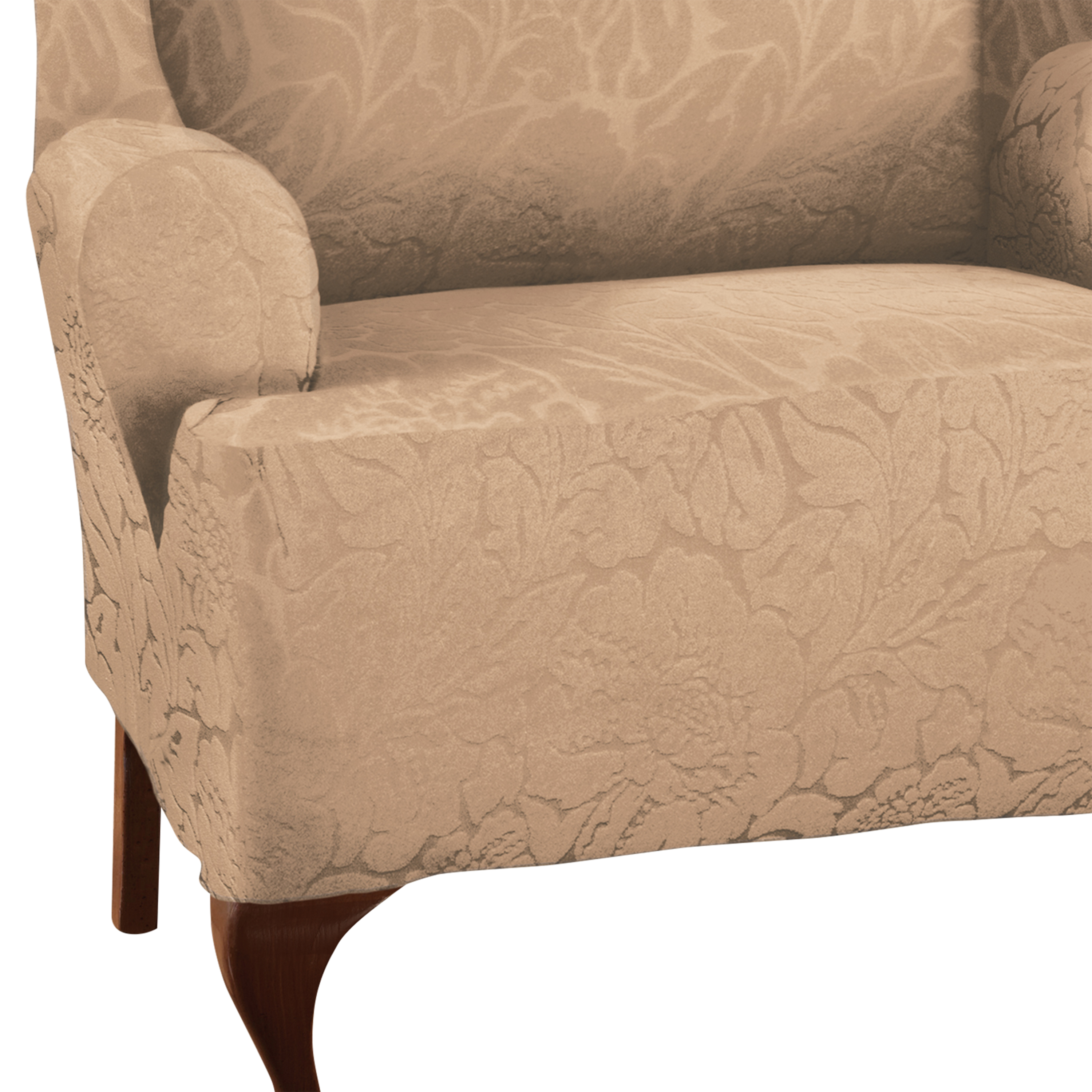 Stretch Sensations Stretch Floral Wing Chair Slipcover