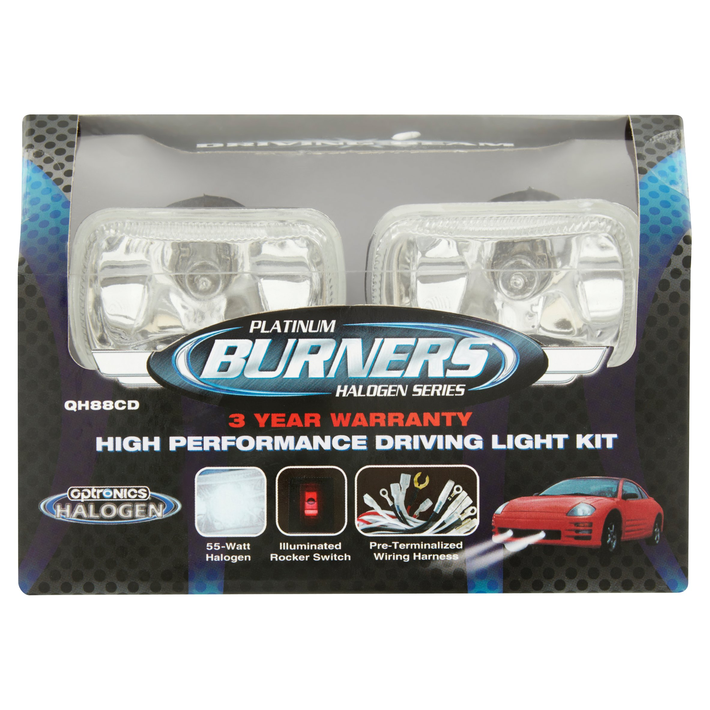 Optronics Platinum Burners Halogen Series 55-Watt Halogen High Performance Driving Light Kit