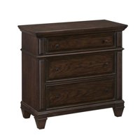 Hawthorne Collections 3 Drawer Chest in Black Oak