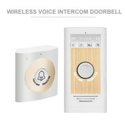 Wireless Voice Doorbell 2-way Talk Monitor with 1*Outdoor Unit Button 1* Indoor Unit Receiver Smart Home Door Bell