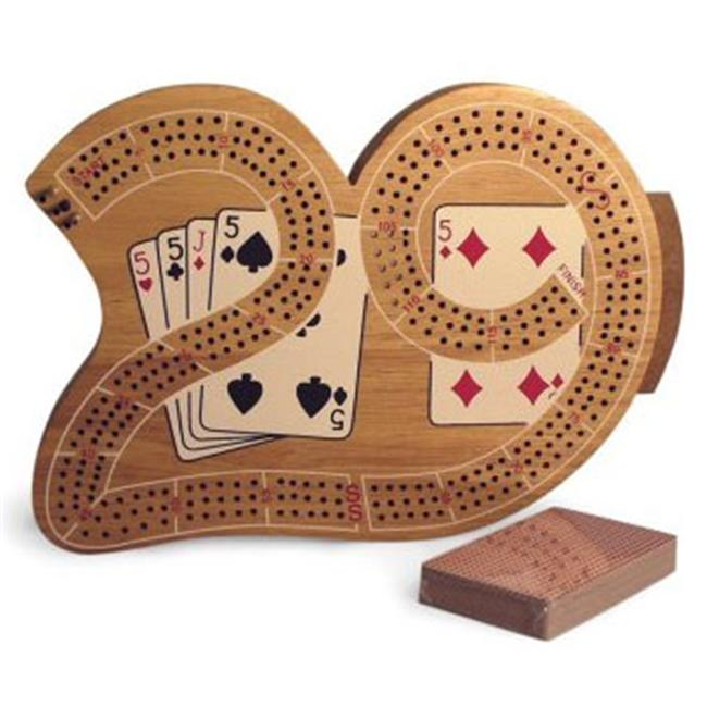 WWI 33529 3 Player 29 Cribbage Board in Wood