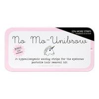 No Mo-Unibrow Portable Brow Wax Kit, 24 Strips