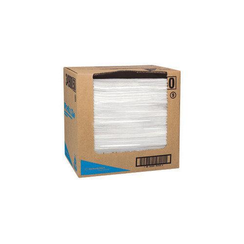 Kimberly-Clark X 15.7'' White Flat Sheet WYPALL* TERI* X60 Reinforced Towels (150 Per Box, 6 Boxes Per Case) (Set of 6)