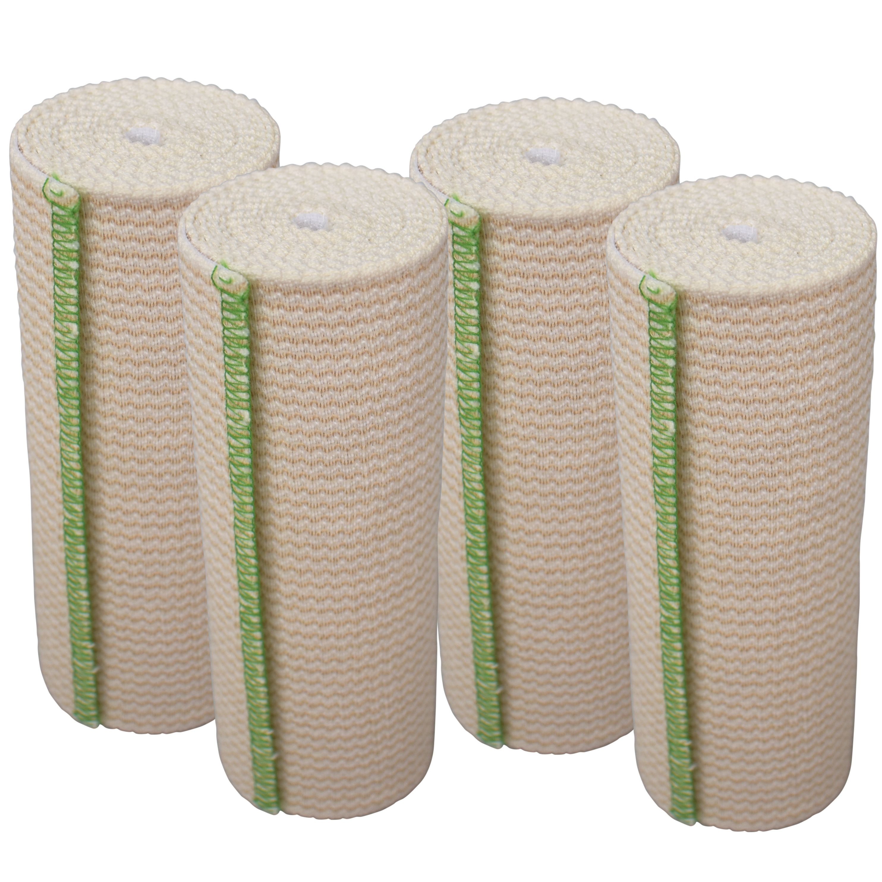 Gt 6 Cotton Elastic Bandage With Hook Loop Closure On Both Ends