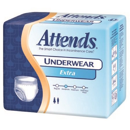 Attends   Adult Absorbent Underwear Attends   Pull On Regular Disposable Moderate Absorbency   20 Bag