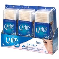 Q-tips Cotton Swabs, Club Pack 625 ct, Pack of 3 : Q Tips