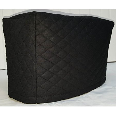 Toaster Cover Patterns - Quilted 2 or 4 Slice Toaster Cover (4 Slice, Black)