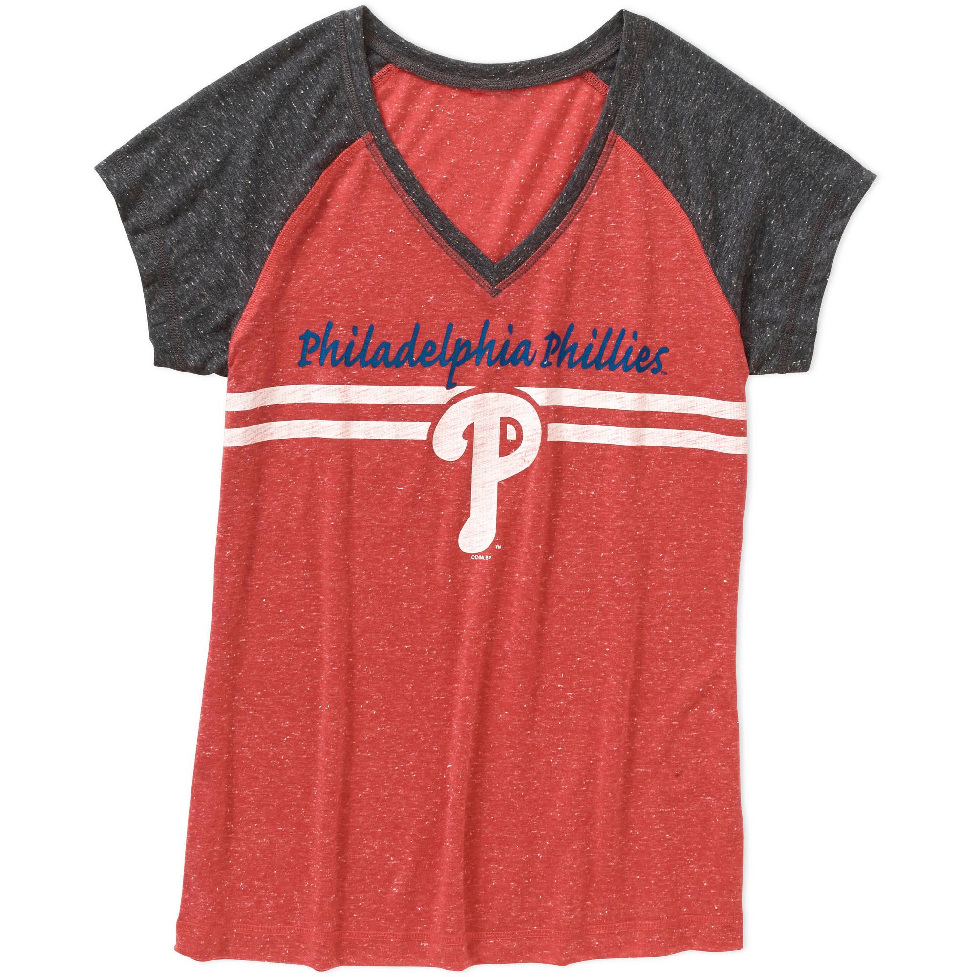 MLB Women's Philadelphia Phillies Short Sleeve Top