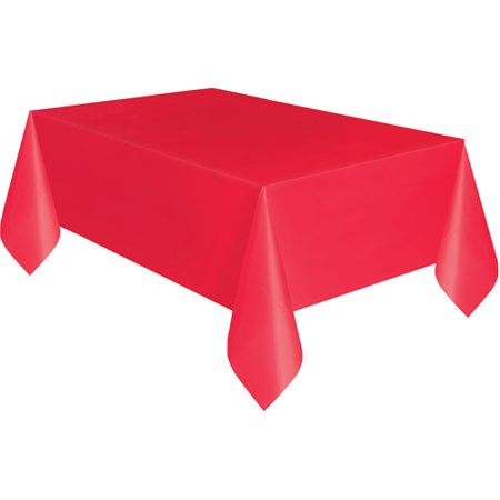 Plastic Tablecloth, 108 in. x 54 in., Red](Red Tablecloths)