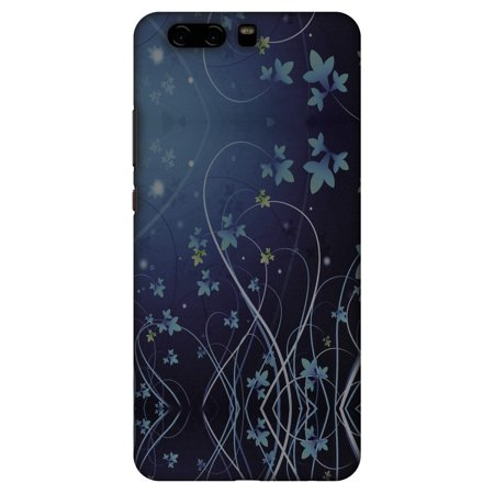 Huawei P10 Plus Case, Premium Handcrafted Designer Hard Shell Snap On Case Printed Back Cover with Screen Cleaning Kit for Huawei P10 Plus, Slim, Protective - Midnight Lily