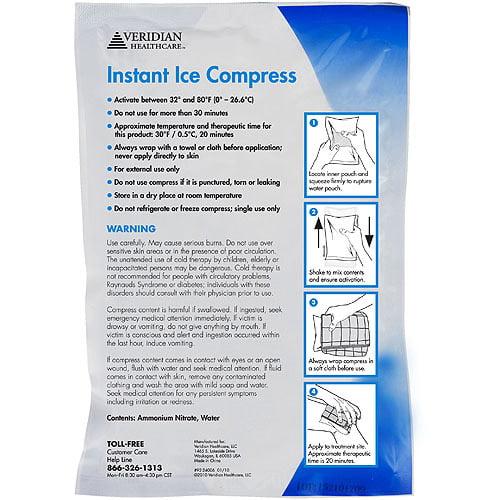 Veridian Health Instant Ice Compress, 24ct