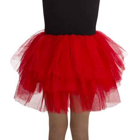 Girl Red Deluxe Tutu One Size Halloween Dress Up / Costume - Dress Up As A Girl For Halloween