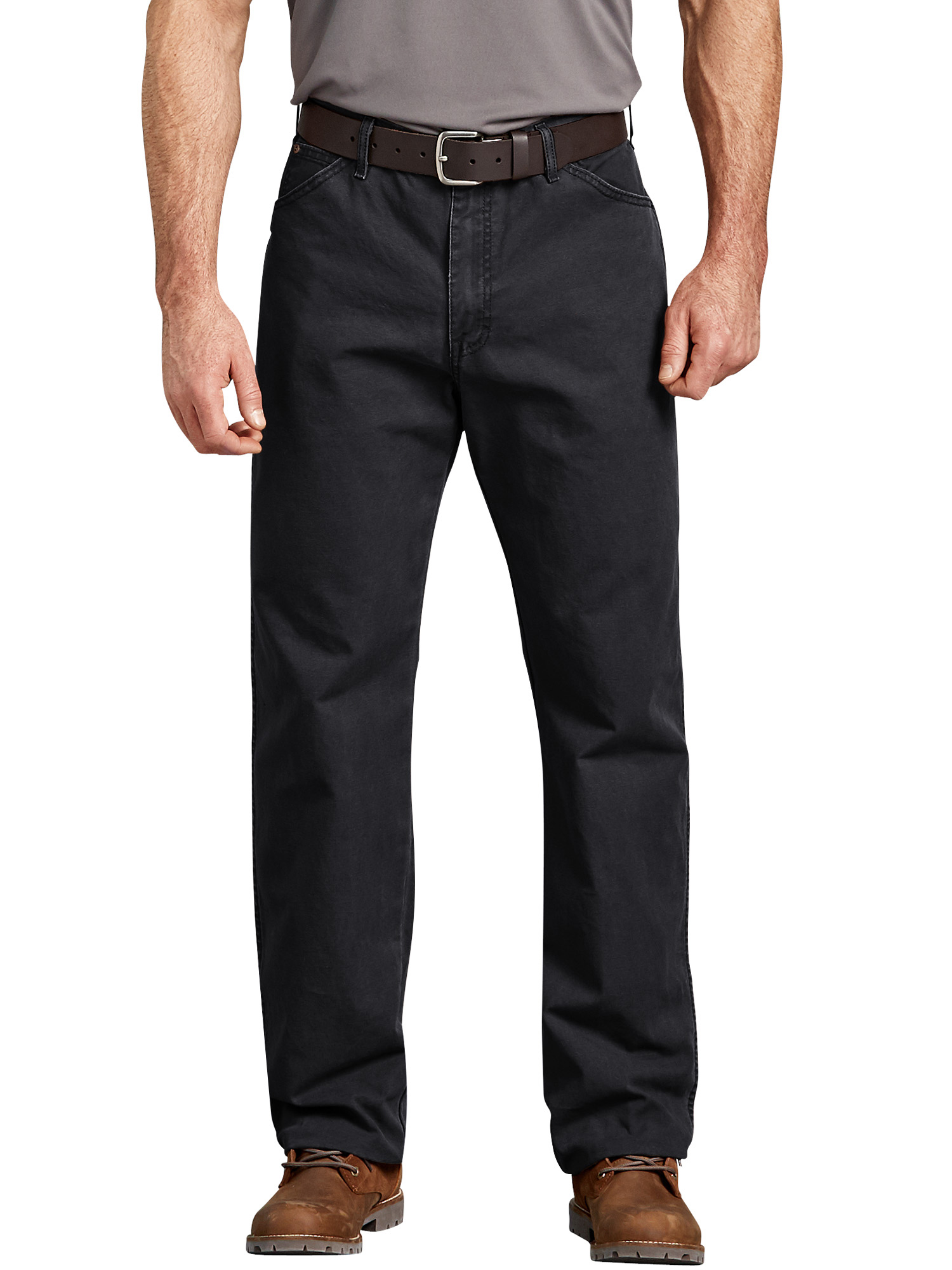 Men's Relaxed Fit Straight Leg Dungaree Jeans