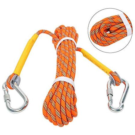 Yaegarden Outdoor Climbing Rope 20M(64ft) Static Rock Climbing Rope Escape Rope Climbing Equipment Fire Rescue Rope