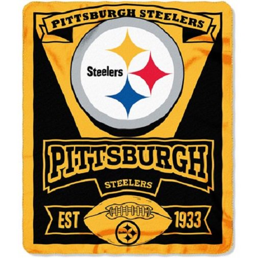 Nfl Pittsburgh Steelers Fleece 50 X 60 Northwest Marque Throw Blanket Per Yard Walmart Com Walmart Com