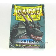 Dragon Shield Green Standard 100 Card Sleeves Fantasy Flight Games