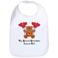 CafePress - My Great Grandma Loves Me! Bib - Cute Cloth Baby Bib, Toddler Bib