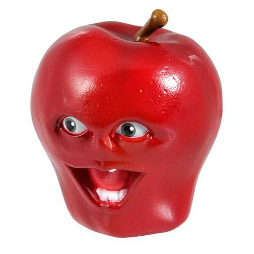 "Annoying Orange 4"" Talking PVC Figure: Apple"