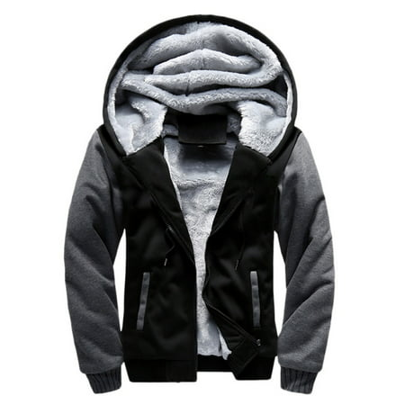 - Winter Men Hooded Outwear Jacket Swearshirt